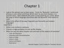 the great gatsby chapter   question 21