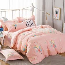 light pink and white ticking stripe and fl twin full size bedding sets