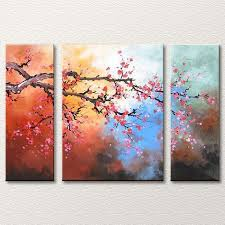 reaching out tree canvas art 3 piece fl oil painting