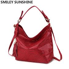 smiley sunshine brand women handbag leather tote bag female serpentine shoulder bags las big hand bags