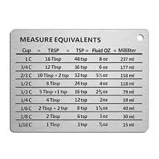 Fluid Conversion Chart Amazon Com Professional Measurement Conversion Chart