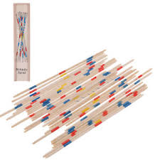 Game With Wooden Sticks 100 SET OF NEW WOOD PICK UP STICKS WITH WOODEN BOX PICKUP MIKADO 37