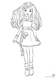 Evie Wicked World From Descendants 2 Coloring Pages Printable For