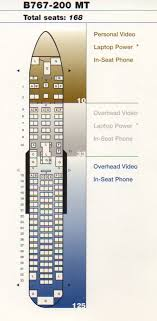United 767 Seating Chart Vintage Airline Seat Map United Airlines Boeing 767 200 Mt