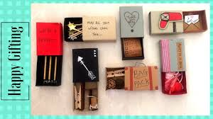 diy cute gift for best friend made with matchbox