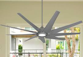 indoor outdoor brushed nickel ceiling fan with 18w led
