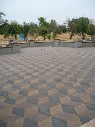 Diamond pavers can create a stunning statement area for your home. This  beautiful 3D pattern