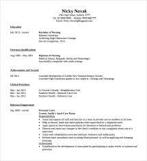 Sample Registered Nurse Resume 7 Download Free Documents
