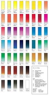Winsor And Newton Cotman Color Chart Wn Cotman Color Chart