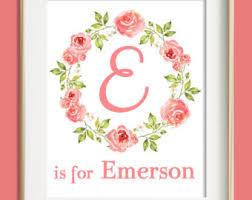 >baby girl nursery wall art custom name print new baby gift girls wall art coral nursery decor custom name print baby girl nursery baby gift coral nursery decor personalized baby new mom gift
