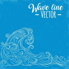 waves background curved lines sketch retro design