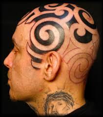 мужские тату на голове и лице оригинальные мужские тату голове и
