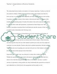 teachers expectations influence students essay example topics related essays