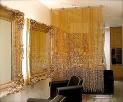 champagne gold luxurious acrylic crystal bead curtain