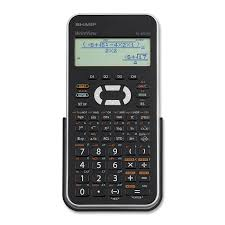 sharp elwx scientific calculator functions line s sharp elw535x scientific calculator 335 functions 4 line s 12 character s lcd battery solar powered 0 5 x 3 3 x 6 5 black