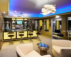 man cave lighting. Man Cave Lighting Basement Contemporary With Back Lit Onyx Bar. Image By: Vonn Studio Designs