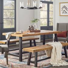 Industrial furniture table Industrial Style Industrial Kitchen Dining Room Furniture Home Source Furniture Industrial Furniture Decor Joss Main