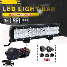 Truck Mounted Led Work Lights Details About 12inch Led Work Light Bar Offroad Mounting Brackets Fit Suv Ford Truck