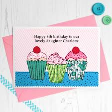 Cupcakes Personalised Girls Birthday Card By Jenny Arnott Cards