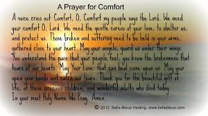 A Prayer For Comfort A Voice Cries Out Comfort O Comfort My People