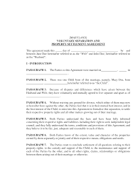 Business Separation Agreement Template 24 Images Of Marriage Separation Template Learsy 15