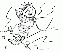 Small Picture The Funny Little Statue of Liberty coloring page for kids
