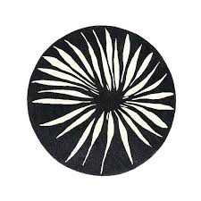black and white round rug west elm round petal rug black white 6 round a liked