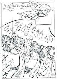Kleurplaat Pinksterfeest 3 10 Jaar Bijbels Opvoedennl