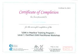 Certificate Of Completion Course Template Word Construction