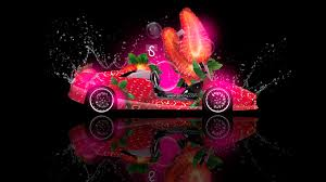 lamborghini murcielago fantasy strawberry car