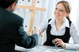 job interview w smiling jpg job interview tips part 2 during the interview