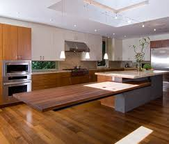 Floating Kitchen Island With Seating Overhang
