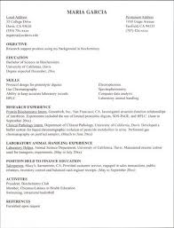 Example Resume For Internship - Examples Of Resumes