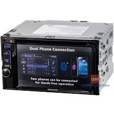 kenwood ddx23bt double din 6 2 in dash dvd cd am fm receiver kenwood ddx23bt double din car stereo dual phone connction
