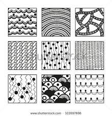 Zentangle Patterns Adorable Set Zentangle Patterns Handdrawn Doodle Illustration Stock