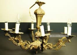 Kronleuchter Bronze 8 Arm Lampe Lüster Frankreich Antik Massiv