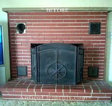 resurfacing a brick fireplace reface
