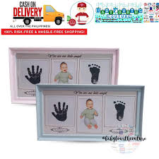 photo frame ink pad hand foot print picture holder stand baby keepsake