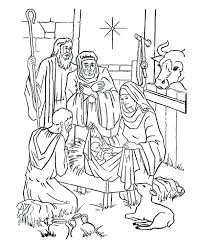 Christmas Coloring Pages Of Baby Jesus In A Manger