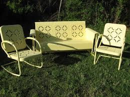 Vintage Outdoor Metal Chairs Antique Metal Outdoor Furniture