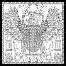 Elegante Eagle Kleurplaat Stockvector Kchungtw 88005094