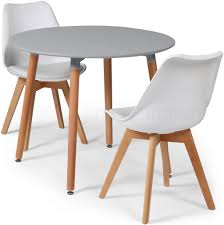 toulouse tulip eiffel designer dining set grey round table 2 white chairs now on your furniture