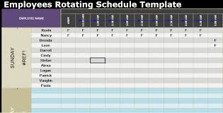 excel rotating schedule employees rotating schedule template spreadsheettemple