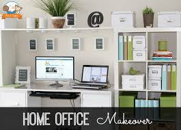 home office on a budget. home office makeovers summer storage and organization blues on a budget