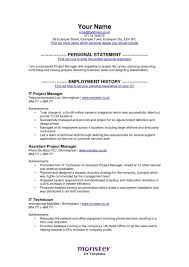 Monster Sample Resume Sample Resume Letters Job Application