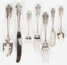 wallace sterling silver flatware grand baroque pattern