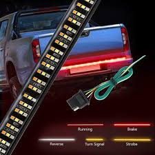 3 Color Led Tailgate Light Wigbow Led Tailgate Light Bar 60inch 504led Triple Row Truck Tailgate Bed Light Strip Turn Signal Brake Reverse Stop Tail Light Waterproof Free