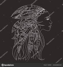 тату футболку дизайн племенных индийская женщина искусство