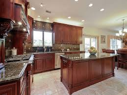 cherry cabinet kitchen designs. Beautiful Designs Traditional Kitchen With Cherry Cabinetry And Large Island Intended Cherry Cabinet Kitchen Designs Y
