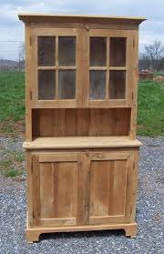 amish barnwood farmhouse stepback hutch with glass doors inside reclaimed wood ideas 9